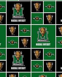 Marshall Thundering Herd Cotton Print by