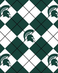 Michigan State Spartans Argyle Fleece by