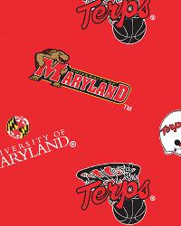 Beige College Fleece Fabric  Maryland Terrapins Fleece