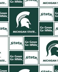 Michigan State Spartans Cotton Print by