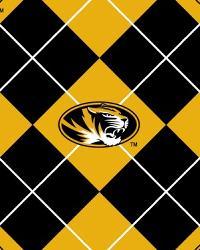College Fleece Fabric  Missouri Tigers Argyle Fleece