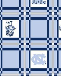 Blue College Vinyl Fabric  North Carolina Tar Heels Vinyl Tablecloth