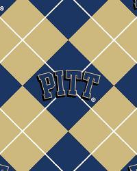 College Fleece Fabric  Pittsburgh Panthers Argyle Fleece