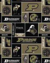Beige College Fleece Fabric  Purdue Boilermakers Fleece