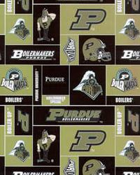Purdue Boilermakers Cotton Print by