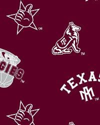 Beige College Fleece Fabric  Texas AM Aggies Fleece