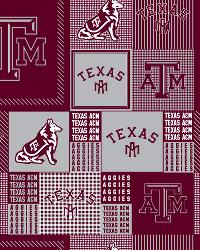 Beige College Fleece Fabric  Texas AM Aggies Block Fleece