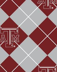 Beige College Fleece Fabric  Texas AM Aggies Argyle Fleece