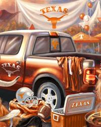 Texas Long Horns Tailgate Fleece Panel by