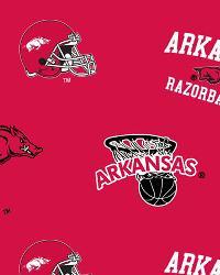College Fleece Fabric  Arkansas Razorbacks Fleece