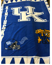 Beige Fleece Panels Fabric  Kentucky Wildcats Fleece Panel