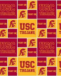 Southern California Trojans Cotton Print by