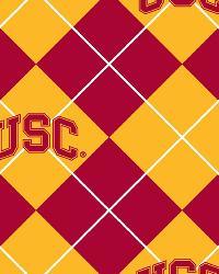College Fleece Fabric  Southern California Trojans Argyle Fleece