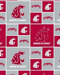 Washington State Cougars Cotton Print by