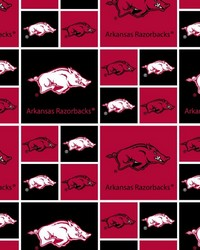 Arkansas Razorbacks Cotton Print by