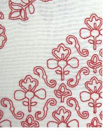 Red Floral Diamond Fabric  MOSAIC EMBROIDERY LB50092 430