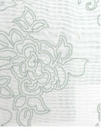 Green Floral Diamond Fabric  MOSAIC EMBROIDERY LB50092 715