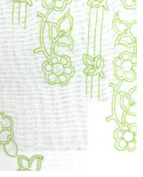 Green Floral Diamond Fabric  MOSAIC EMBROIDERY LB50092 760