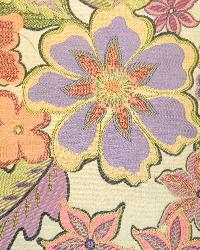 Purple Modern Floral Designs Fabric  Leora Lilac
