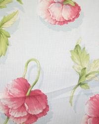 Blue Large Print Floral Fabric  Garden Party Bluemist