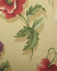 Multi Large Print Floral Fabric  Garden Party Toffee