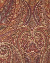 Red Classic Paisley Fabric  Shalymar Spice