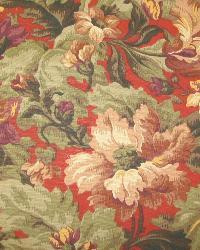 Red Medium Print Floral Fabric  Tess Russett