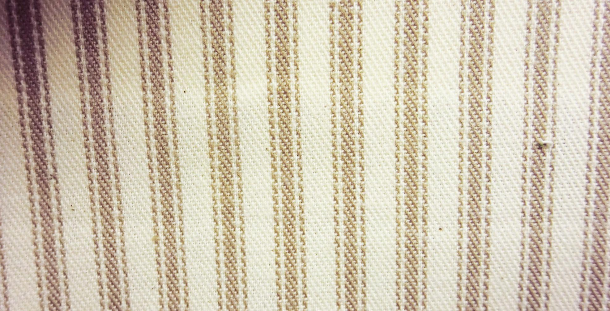 James thompson fabrics ticking stripe khaki for Ticking fabric