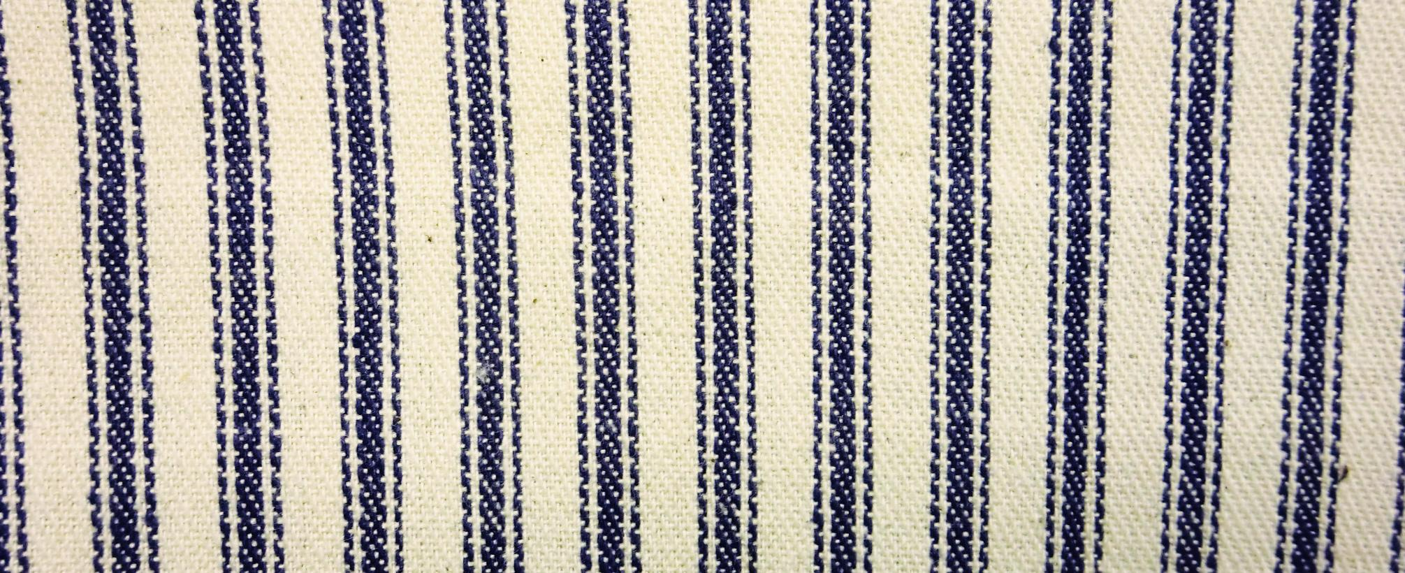 James thompson fabrics ticking stripe navy blue for Ticking fabric