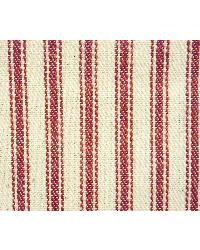 James Thompson Ticking Stripe Red Fabric
