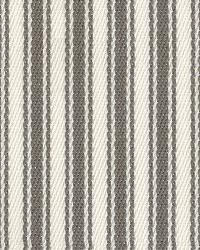 Grey Ticking Stripe Fabric Kahuna Io Stone