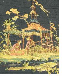 Black Oriental Fabric  Dharma Raven