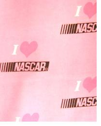 NASCAR Pink Logo Flannel by