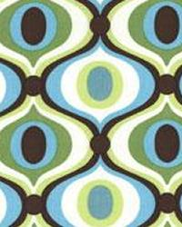 Blue Circles and Swirls Fabric  Feeling Groovy Spa