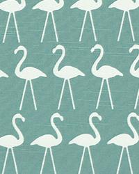 Flamingo Coastal Blue slub by