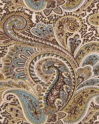 Brown Classic Paisley Fabric  Paisley Chocolate Natural