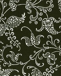 Black Classic Paisley Fabric  Small Paisley Black White
