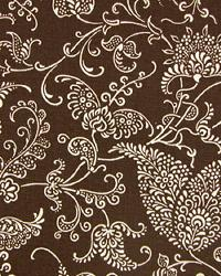 Brown Classic Paisley Fabric  Small Paisley Chocolate Linen