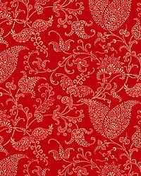 Red Classic Paisley Fabric  Small Paisley Lipstick Linen