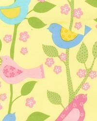 Tree of Life Spring Birds Flannel Pastel by