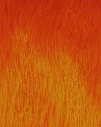 Orange Fun Fur Colors Fabric  Promo Shag Orange