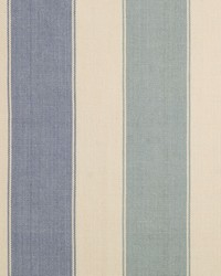 Sheldon and Barnett Lama Stripe Blue Fabric