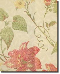 Multi Large Print Floral Fabric  Charthouse Poppy