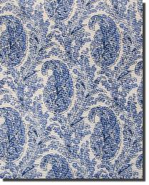 Blue Classic Paisley Fabric  Torbay Luxury Dresden