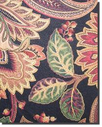 Black Large Print Floral Fabric  Valentina L Onyx