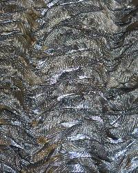 Grey Ribbon Taffeta Fabric  Mackenzie Grey