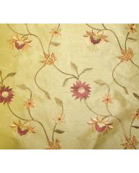 Beige Medium Print Floral Fabric  Bloom Coffee
