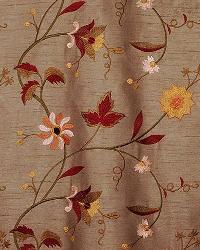 Brown Medium Print Floral Fabric  Bloom Dark Coffee