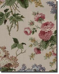 Multi Medium Print Floral Fabric  Emmas Garden Jewel