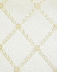 White Floral Diamond Fabric  SD2350 G Off White